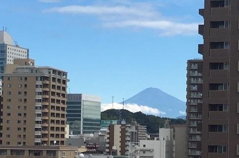 静岡の現場から見える富士山
